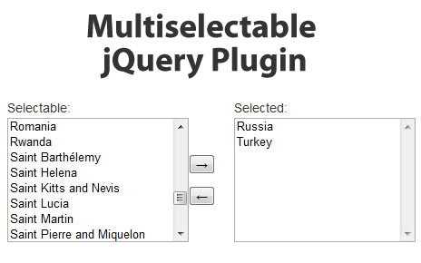 Multiselectable jQuery Plugin