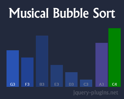 Musical Bubble Sort with Animation