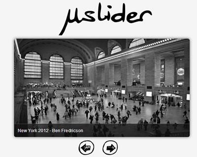μslider – Responsive jQuery Content Slider