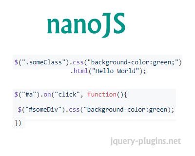 nanoJS – Minimal Standalone JS Library for DOM Manipulation