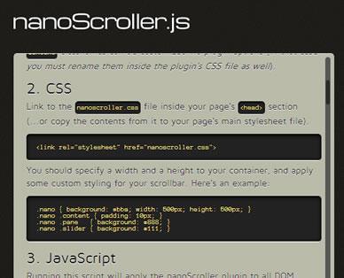 nanoScroller.js – Lion Styled jQuery Scrollbars