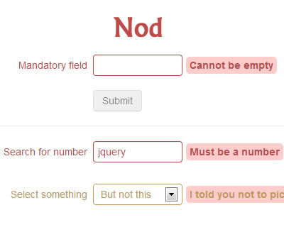 Nod – Frontend Validation jQuery Plugin