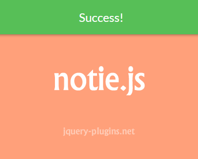 notie.js – Clean and Simple Notification Plugin for Javascript