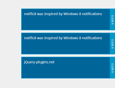 notific8 – Windows 8 Style jQuery Notification Plugin