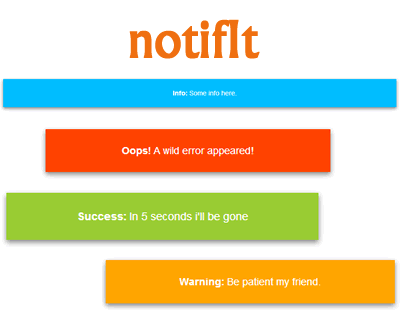 notifIt – Simple Animated Notifications with jQuery