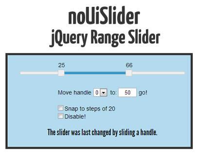noUiSlider – jQuery Range Slider