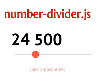 number-divider.js – jQuery Number Divider Plugin