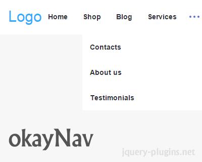 okayNav – jQuery Responsive Navigation Plugin