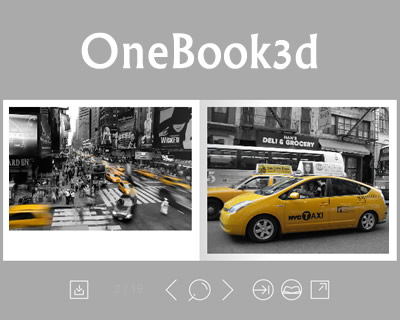OneBook3d – jQuery Plugin for Eye-Catching Presentation