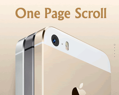 One Page Scroll – Create Single Page Scroller Like iPhone 5S Website