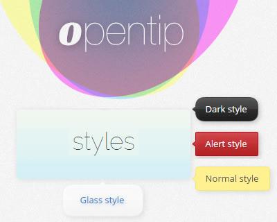 OpenTip – Free & Open Source JavaScript Tooltip Framework