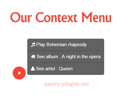 Our Context Menu – Lightweight jQuery Context Menu