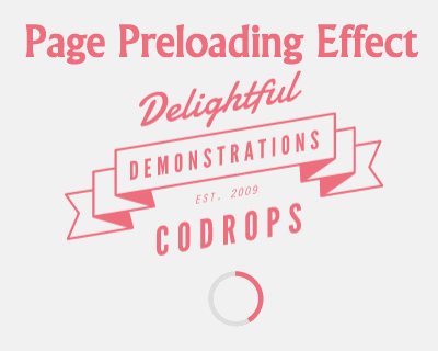Page Preloading Effect