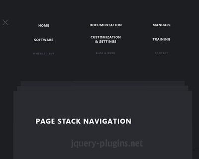 Page Stack Navigation
