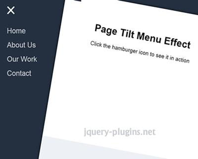 Page Tilt Effect