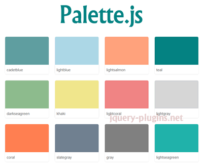 Palette.js – Beautiful Palette Colors
