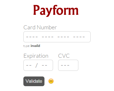 Payform – Javascript Library for Building Credit Card Forms