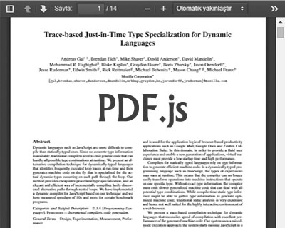 PDF.js – PDF Reader in JavaScript