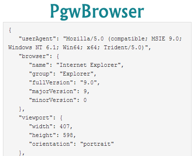 PgwBrowser – Browser & OS / Platform Detection Plugin for jQuery