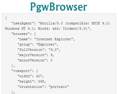 PgwBrowser – Browser & OS / Platform Detection Plugin for jQuery