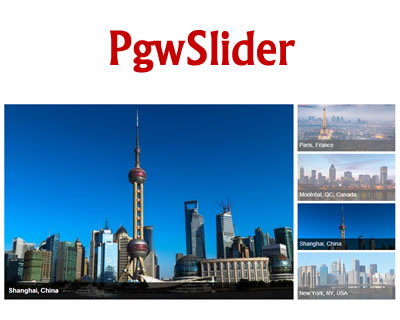 PgwSlider – Responsive Slider for jQuery