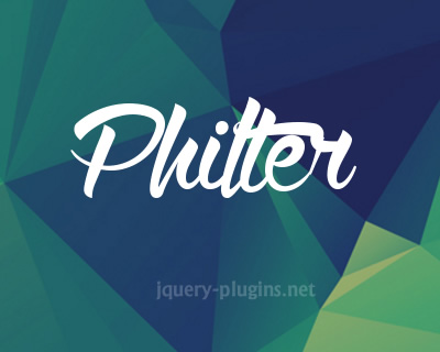 Philter – jQuery Plugin for CSS Filters