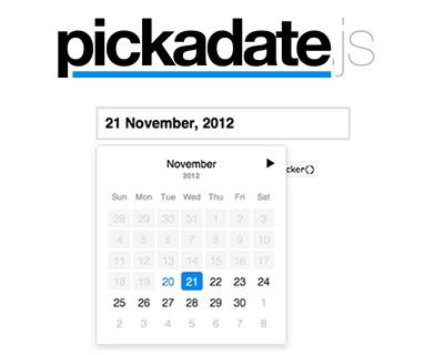 pickadate.js – Lightweight jQuery DateInput Picker