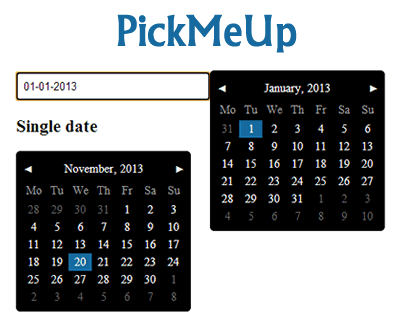 PickMeUp – jQuery Datepicker Plugin
