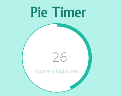 Pie Timer with CSS and jQuery