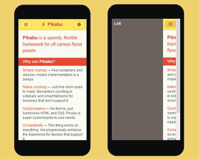 Pikabu – Flexible Framework for Off-Canvas Flyout Panels