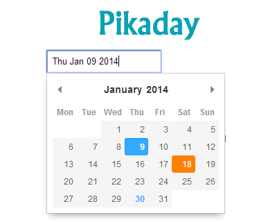 Pikaday – Refreshing JavaScript Datepicker