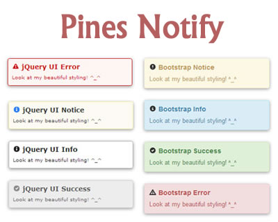 Pines Notify – Notifications for Bootstrap or jQuery UI