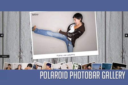 Polaroid Photobar Gallery with jQuery