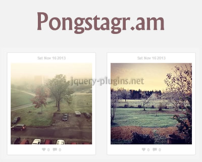 Pongstagr.am – Display Instagram Media on Your Website
