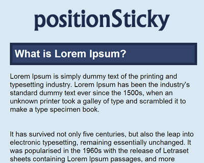 positionSticky – Sticky Positioning Polyfill for jQuery