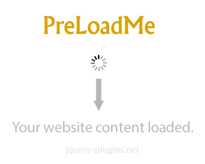 PreLoadMe – Lightweight jQuery Website Preloader