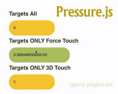 Pressure.js – JavaScript Library for Force Touch & 3D Touch