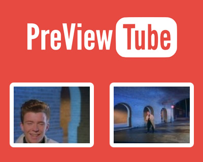PreViewTube – jQuery Plugin for Animating YouTube Thumbnails