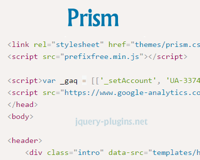 Prism – Lightweight and Elegant Syntax Highlighting