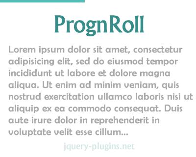 PrognRoll – Tiny  jQuery Plugin to Show Scroll Progress Bar on Page