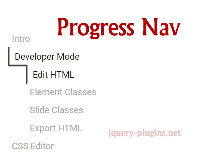 Progress Nav – Animated Progress Bar to Highlight Current Section