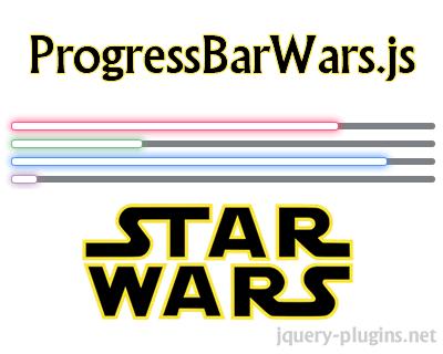 ProgressBarWars.js – jQuery Animated Star Wars Progress Bar Plugin