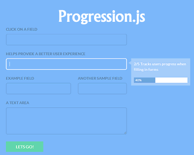 Progression.js – Hints & Progress Plugin for Forms