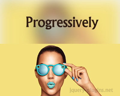 Progressively – JavaScript Library to Load Images Progressively