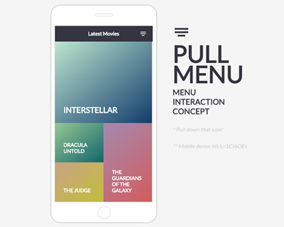 Pull Menu – Menu Interaction Concept