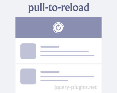 pull-to-reload – Pull to Refresh Implementation for Web
