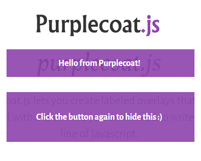 Purplecoat.js – Simple Labeled Overlays