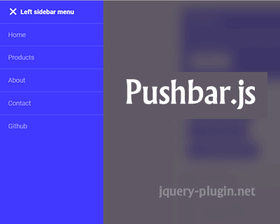 Pushbar.js – JavaScript Plugin for Creating Sliding Drawers