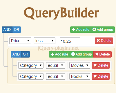 QueryBuilder – jQuery Plugin to Create Complex Queries