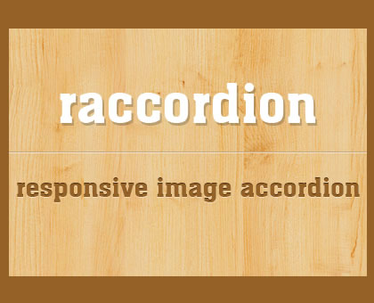 raccordion – jQuery Responsive Horizontal Accordion Image Slider